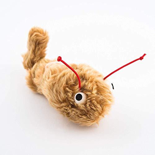 leo.toys Katzenspielzeug Zitterwurm, Plüschspielzeug für Katzen zum Aufziehen (Braun)