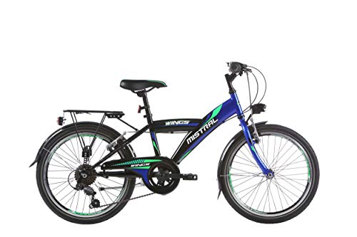"20 20\"" Zoll City Fahrrad Bike Rad KINDERFAHRRAD CITYFAHRRAD Mistral BLAU-GRÜN"