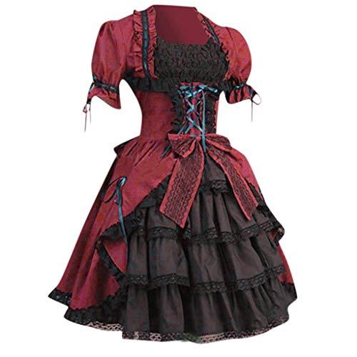 SHINEHUA Damen Victorian Gotik Corsagenkleid Karneval Fasching Cosplay Kostüm Abendkleid Medieval Renaissance Lolita gotische Prinzessin Kleider Medieval Renaissance Costume