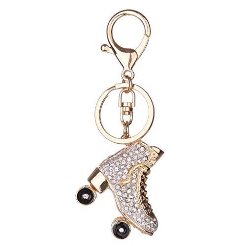 Chowceng Roller Skates Schuh Kristall Schlüsselanhänger Handtaschen-Anhänger befestigt Halter Handtasche Schlüsselanhänger Kristall Schlüsselanhänger Strass Schlüsselanhänger