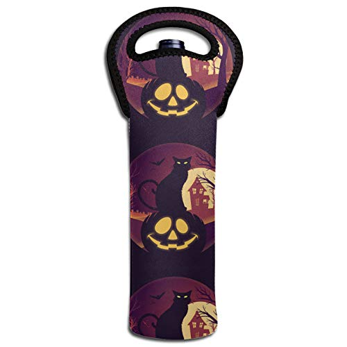 Halloween Vollmond mit Jack Wein Wärmedämmung Taschen Flaschenabdeckung Kühltasche Tote Dekoration