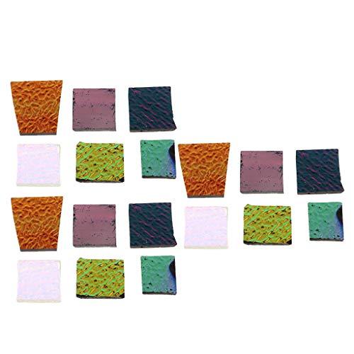 Colcolo Chatarra de Joyero de Horno de Microondas de Vidrio Fusible de Vidrio Dicroico Multicolor de 3 Oz
