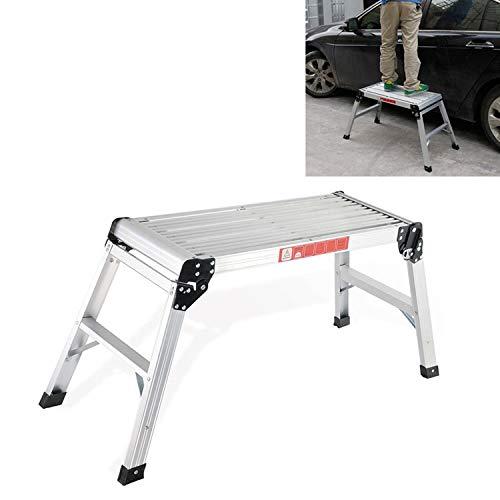 Herramientas de mantenimiento de automóviles Útiles de limpieza for lavado de coches de aleación de aluminio Plataforma de Trabajo taburete taburete plegable del taburete del vehículo DLW201 50cm Alto