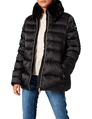 Geox W Chloo N Abrigo, Negro (Black F9000), 44 para Mujer