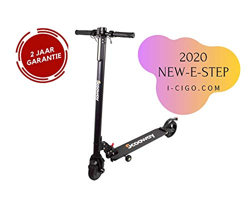 I-CIGO - Scooway - Elektrische step - Opvouwbaar - Step -Cruisecontrol - Anti lek banden – E-scooter-Zwart