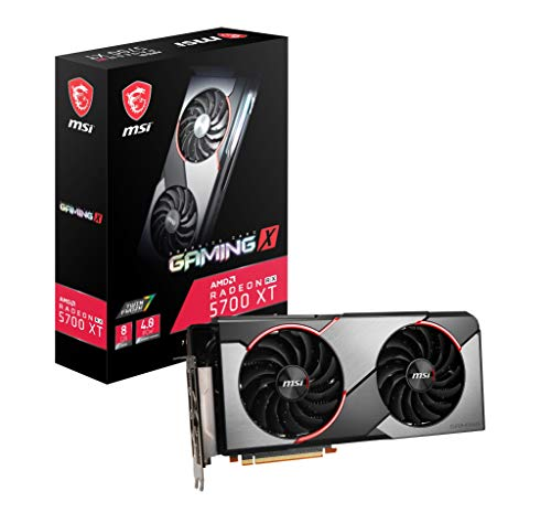 MSI Gaming Radeon Rx 5700 Xt 256-bit 8GB GDDR6 HDMI/DP Dual Fans Crossfire Freesync Navi Architecture Graphics Card (RX 5700 Xt Gaming X)