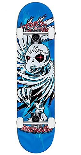Birdhouse Stage 1 Hawk Spiral Factory Skateboard, 19,7 cm, Blau