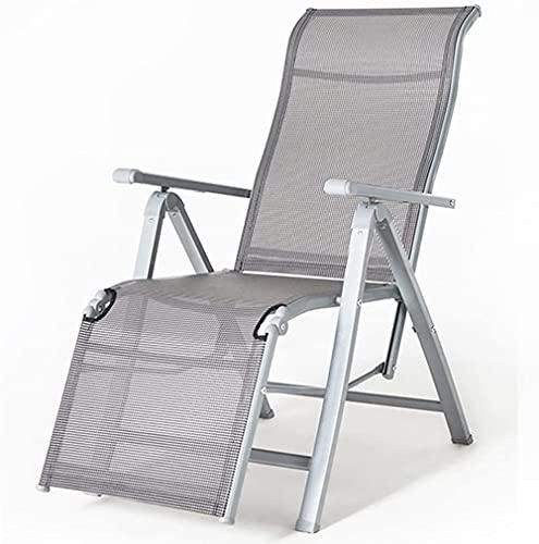 Cero Gravedad reclinable Relajante Silla al Aire Libre Tumbona Silla Patio jardín Muebles Multifuncional Playa Silla Gris