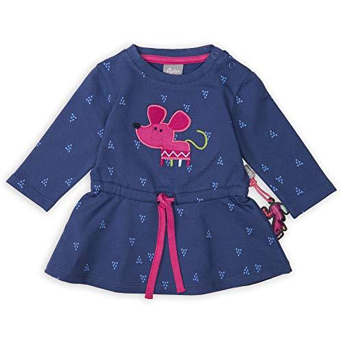 Sigikid Baby - Mädchen Langarm-Kleid Kleid,, per pack Blau (blau 758), 80 (Herstellergröße: 80)