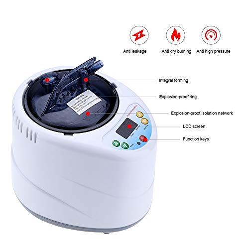 Sauna Dampfgarer, 2L Tragbare Begasungsmaschine Dampfgarer Dampferzeuger Topf Tragbare Spa Maschine für Sauna Spa Zelt Körpertherapie(EU-Stecker)