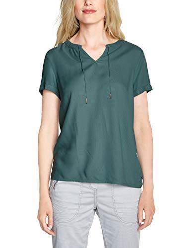 CECIL Damen 341575 Bluse Grün (sage green 11893) Large (Herstellergröße:L)