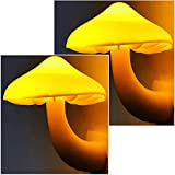 2Pack Mushroom Night Light Plug in Lamp by AUSAYE, Led Night Lights for Adults Kids Baby Children NightLight Warm White