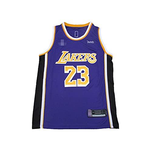 YDHZ Lakér # 23 Jamés New Temporada Basketball Jersey Special Edition Retro Bordado Baloncesto Camisa Chaleco Malla Camiseta de Manga Media Transpirable Lilac-XXL