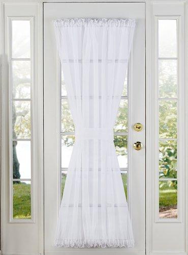 "Stylemaster Elegance Sheer Voile Door Panel, 60' x 72"", White"