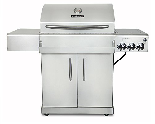 Chef's Grill IR2818-1 61500 BTU Two Infrared Ceramic Burners LP Grill with...