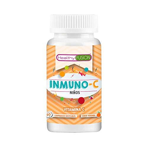 Vitamina C Pura para niños | Mantiene las defensas fuertes, cuida el sistema inmunológico y protege la piel | Deliciosos comprimidos masticables sabor a naranja | 60 unidades