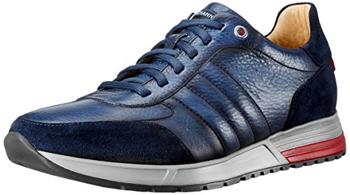 Magnanni Herren Roque Fashion Sneaker, Blau (Navy), 47 EU