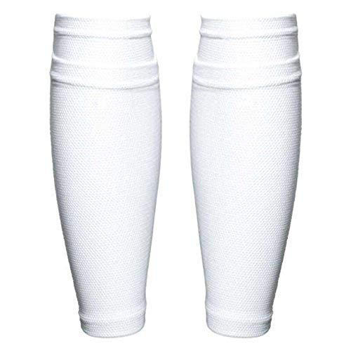 BOENTA Knieschoner Knie-Ärmel Präzisionsfußballsocken Kompressionswadenärmel Baumwolle Knieschützer Tanzende Knieschützer Kinderfußball Socken White