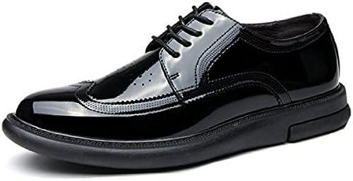 Bullock Geschnitzte Herrenschuhe Business Lederschuhe Mode Schnürschuhe