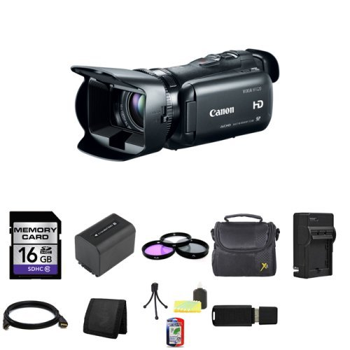 Canon 32GB VIXIA HF G20 Full HD Camcorder HFG20 8063B002 + 16GB Memory Card + 58mm 3 Piece Filter Kit + Extra BP-819...
