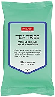 Tea Tree Make-Up Remover Cleansing Towelettes 2 Packs, 60 Wipes