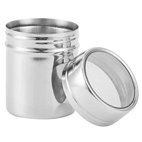 Alvinlite Agitador de Botellas de Sal en Polvo, Botella de condimento aromatizante de Especias de café de Acero Inoxidable para cocinar en casa con Restaurante(Grande)