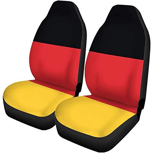 Autostoelhoezen rood zwart vlag van Duitsland origineel geel land embleem set van 2 auto accessoires beschermers car decor fit
