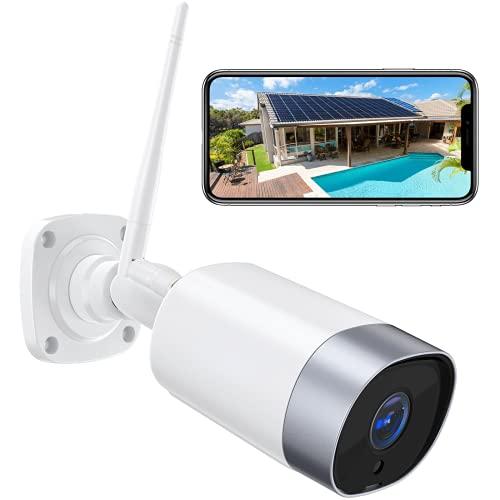 Cámara de Vigilancia WiFi Exterior, 1080P Cámara Vigilancia Domestica WiFi, IP66 a Prueba de Agua y Polvo, Visión Nocturna, Audio Bidireccional, Detección de Movimiento, App iOS / Android
