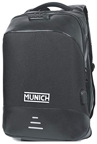 Munich Tech/Business Mochila Tipo Casual, 49 cm, 23 litros, Negro