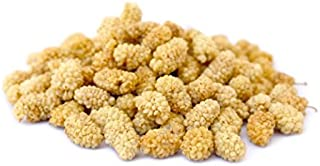Anna and Sarah Natural, Unsulfured, Sun Dried White Mulberries in Resealable Bag, 3 Lbs