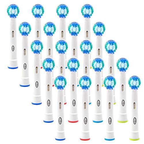 HLC Pack de 20 recambios cabezales para cepillo eléctrico recargable SB 20A Oral B Vitality Precision Clean