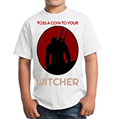 Toss A Coin To Your The Witcher Unisex Kids T-Shirt Children's Camiseta