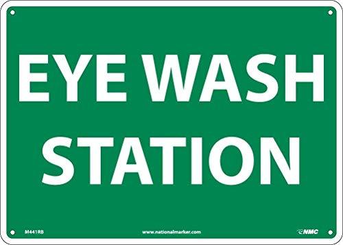 Señal de advertencia Señal de emergencia y primeros auxilios Estación de lavado de ojos Señal de carretera Señal comercial 8X12 pulgadas Cartel de chapa de aluminio y metal Z0941