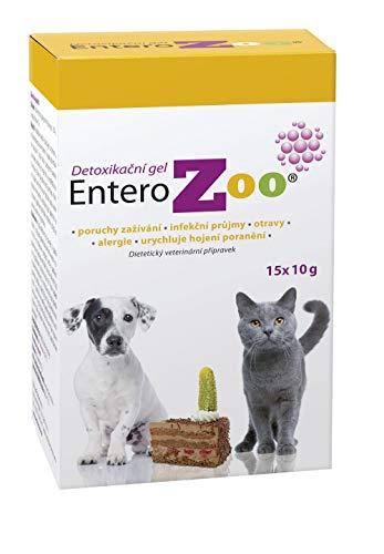 EnteroZoo Entgiftungsgel - 15x 10g Portionstüten I bei Vergiftung, schlechter Verdauung oder Durchfall für Hunde und Katzen