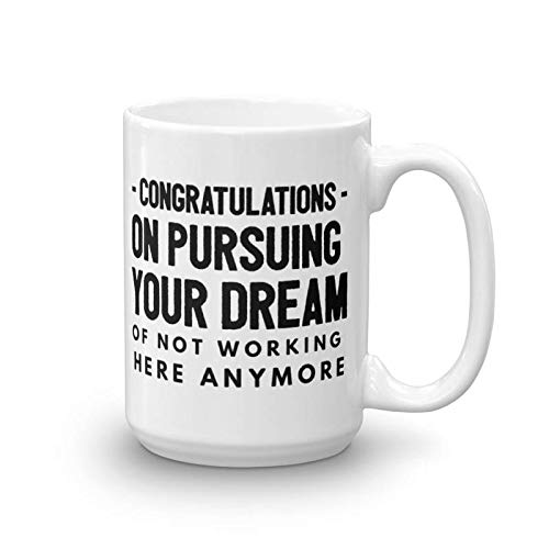 e44415fd6b32 Congratulations leaving gifts mugs Coworkers Colleague Boss best coffee tea  cup funny friend Retirement Goodbye Farewell For Going Away Thank You leave  ...