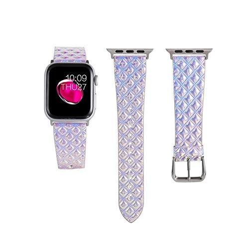 KTZAJO 2021 La última correa para Apple Watch 5 4 Band Cuero Genuino Loop 42mm 38mm Correa de reloj para iwatch 44mm 40mm 5/4/3/2/1 Pulsera Accesorios - Plata - 38mm o 40mm