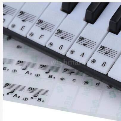 Jinjuntech 1Set Keyboard Piano Sticker Music Decal Label Note Suitable for 61 Key Electronic Keyboard 88 Key Electrical Piano