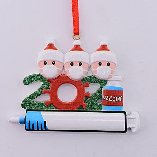 EliteKoopers 1 pieza colgante de bolas de árbol de Navidad para decoraciones festivas de Navidad, adorno de novedad (3 miembros)