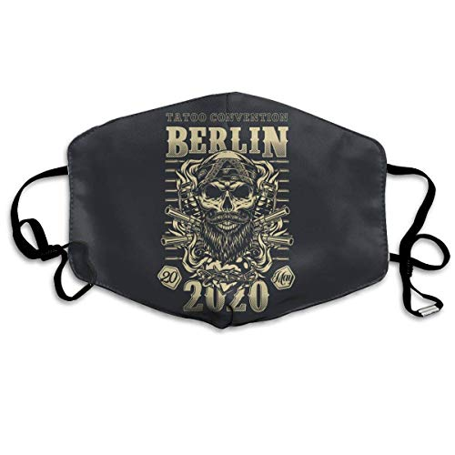 Lemotop Mundschutz Tattoo Convention In Berlin Mouth Cover Face Covers Unisex Washable Reusable Adjustable Scarf Outdoor Sports, Facial Decorations