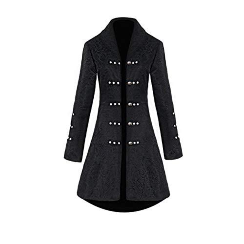 Steampunk Damen Mantel, Dasongff Taillierte Smokingjacke in Taillenhöhe, Eleganter Retro Unregelmäßige Tailcoat Blazer Viktorianischen Langer Kostüm Cosplay Kostüm Uniform Outwear