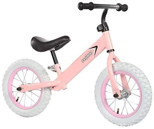 Fahrrad Kid Fahrrad 12 Zoll Kinderfahrrad Gleichgewicht Auto Scooter ohne Pedal Slide Auto for 2-7 Jahre alt (Color : Pink, Size : 12in)