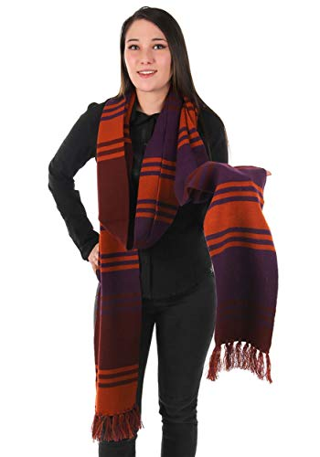 BBC Doctor Who Fourth Doctor Deluxe Purple Knit Cosplay Costume Scarf 12'