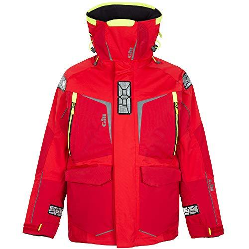 Gill Mens OS1 Offshore Segelyacht Ocean Coat Jacket Mantel in Rot - Leichtes Thermofutter - Wasserdicht und Atmungsaktiv