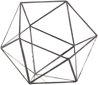 "6"" Glass Geometric Figure Decoration"