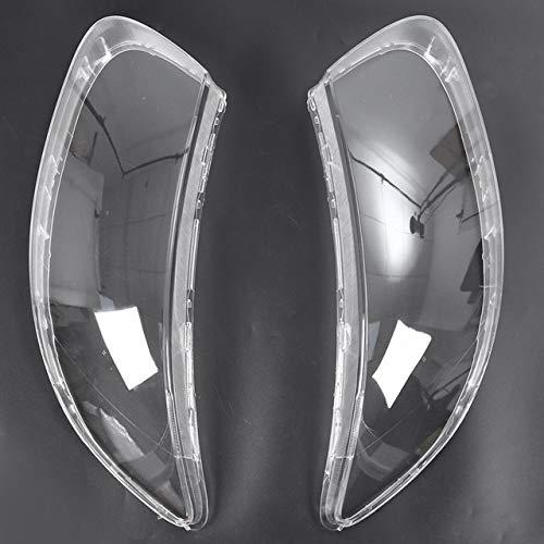 lilili Scheinwerfer Glasabdeckung Auto Klar Scheinwerfer Objektivabdeckung Freie Objektiv-Shell-Abdeckung Auto-Frontscheinwerferblenden Ersatz Fit for Hyundai Santa Fe 2008 2009 2010 2011 2012