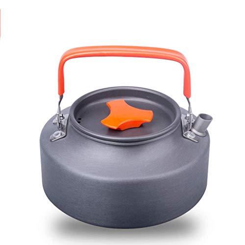Riyyow Portátil al Aire Libre 1.1L1.6 Kettle Camping Kettle Exquisito Pote Café de café Tetera Equipo de Camping (Color : Orange, Size : 1.1L)