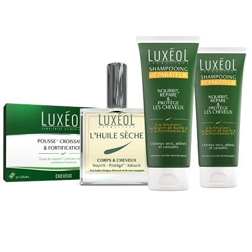 Luxéol – Pack Spécial (4 produits) - Pousse et Réparation des cheveux - Made in France