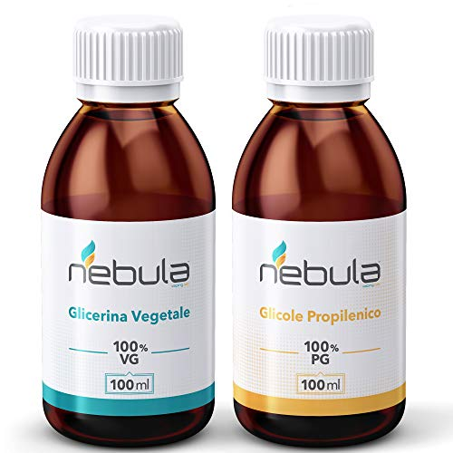 KIT BASE NEUTRA 200 ML - GLICOLE PROPILENICO + GLICERINA VEGETALE 50VG/50PG