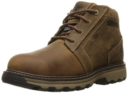 Caterpillar Men's Parker Esd Steel Toe Industrial and Construction Shoe, Dark Beige, 9.5 M US