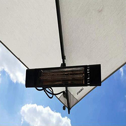 JHSHENGSHI Radiadores de terraza 2000 W Infrarrojos Parasol Parasol Resistente al Agua IP65 para pérgola o pabellón (chimeneas eléctricas)